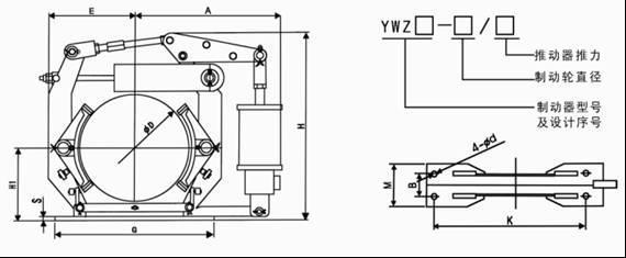 交直流电磁块式制动器